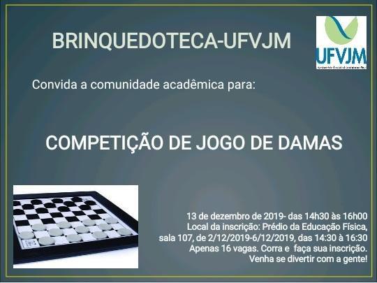 competição de jogo de damas da UFVJM