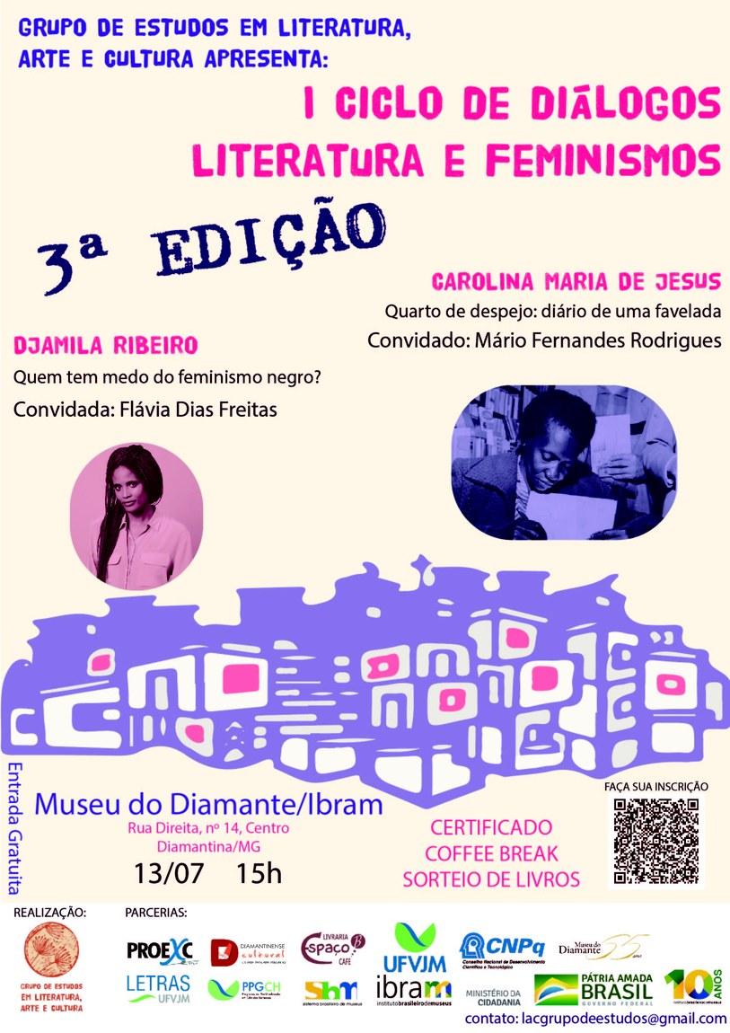 1º Ciclo de Diálogos Literatura e Feminismos (3ª edição)