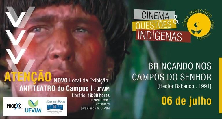 Cine Mercúrio - filme Brincando nos Campos do Senhor