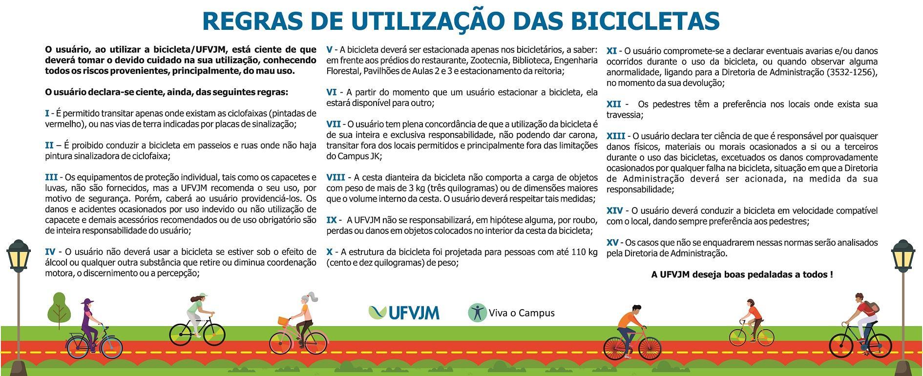 Regras de utilização das bicicletas