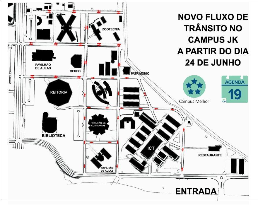 Fluxo Trânsito - Campus JK
