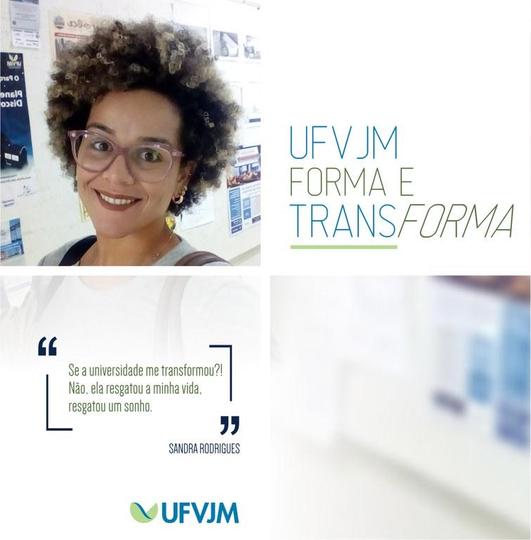 UFVJM Forma e Transforma - Sandra Rodrigues dos Santos