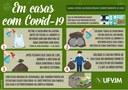 Recomendações de como deve ser feito o acondicionamento correto do lixo em residências com moradores com coronavírus (Covid-19)