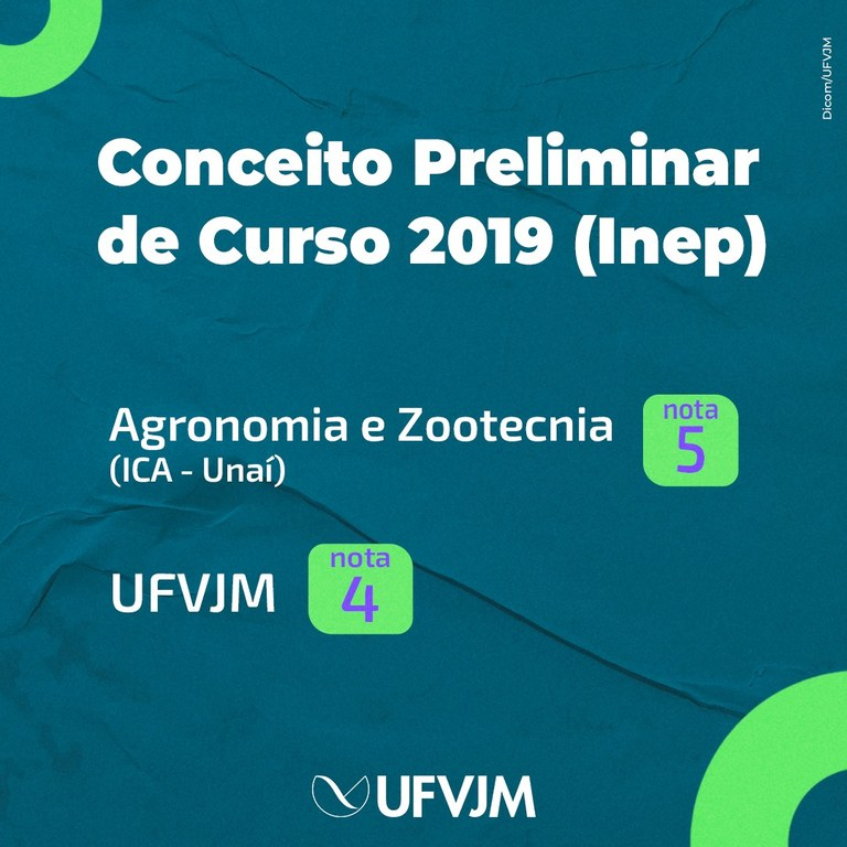 Conceito preliminar de curso 2019 (Inep)