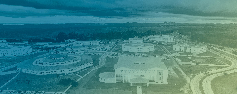 Imagem aérea do Campus JK
