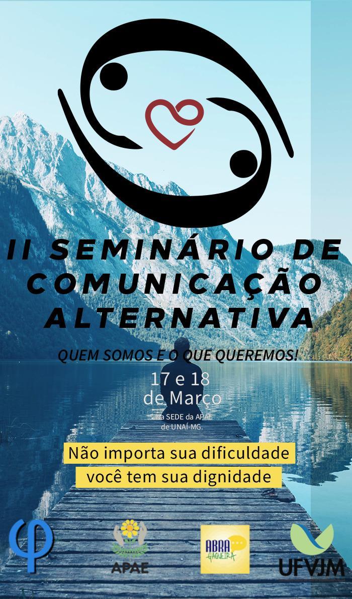 Folder Seminário de Comunicação Alternativa em Unaí