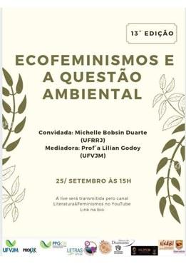 """Cartaz da 13ª edição do projeto de extensão """"Literatura e Feminismos"""""""