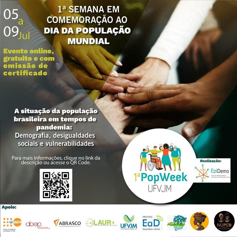 """1ª PopWeek – """"Semana em comemoração ao Dia da População Mundial"""""""