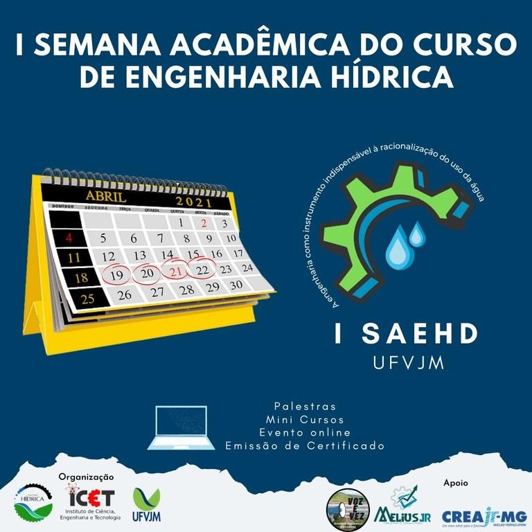 1ª Semana Acadêmica do Curso de Engenharia Hídrica