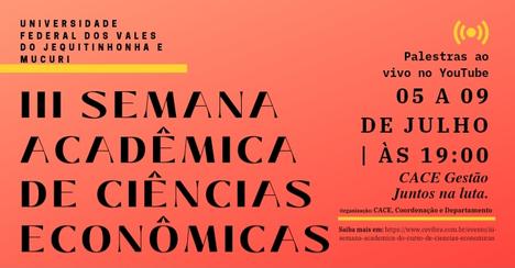3ª Semana Acadêmica de Ciências Econômicas da UFVJM