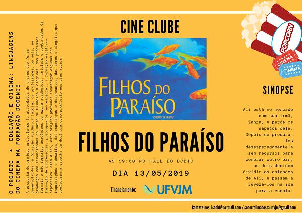 Cine Clube Cinema e Educação apresenta Filhos do Paraíso nesta segunda