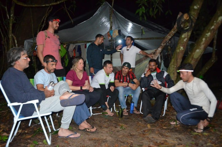 Grupo de pesquisadores participantes da expedição