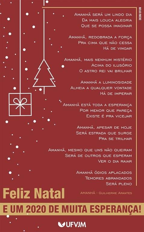 Cartaz de felicitações de fim de ano