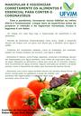 Manipular e higienizar corretamente os alimentos é essencial para conter o coronavírus