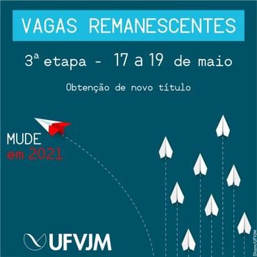 Banner Campanha Vagas remanescentes - Peça 4 - 3 etapa